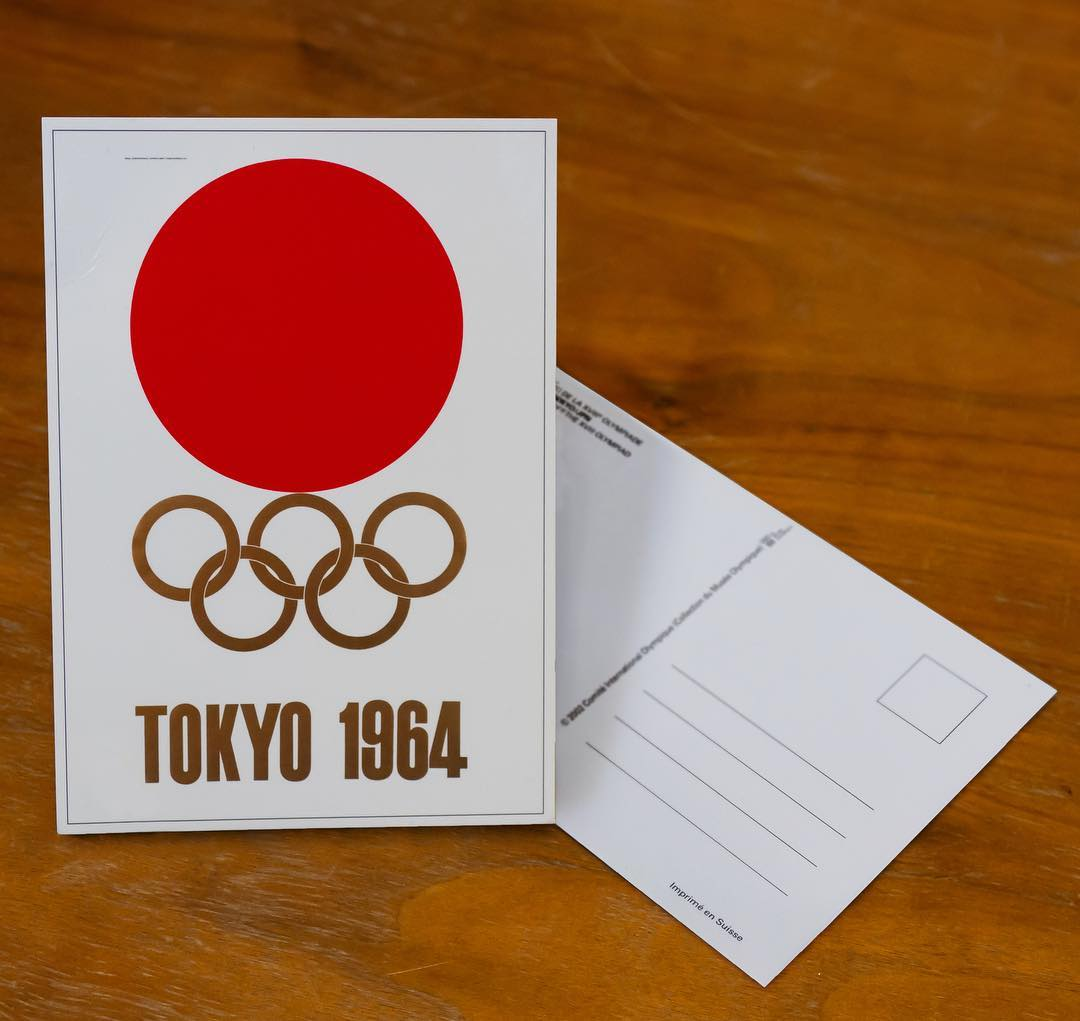 Tokyo 2020 Olympics A Postcard Bearing The Symbolic Emblem For The Tokyo 1964 Olympic Games That In Alo Japan
