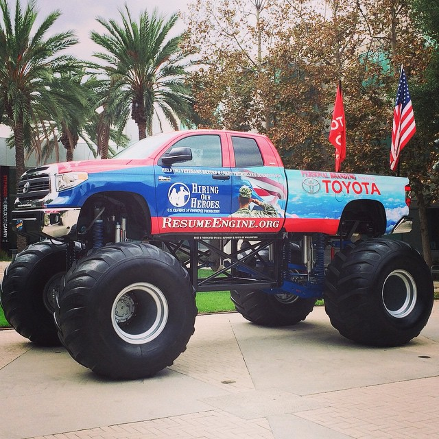 The HiringOurHeroes Monster Tundra Stop By To Help Vets Find Meaningful Employment Resumeengineorg VeteransDay