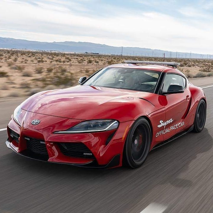 #ThrowbackThursday Had a blast driving the #Supra official pace cars to the Las ...