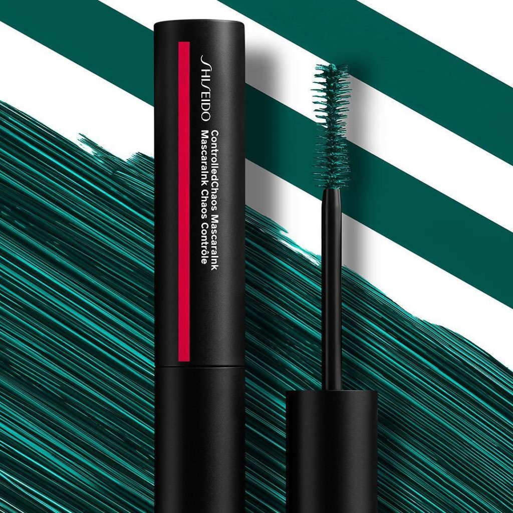 Wear ControlledChaos MascaraInk in Emerald Energy alone or layer it over black f...