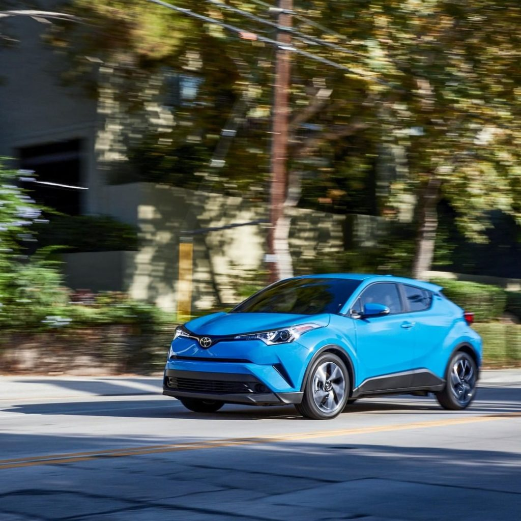 Agile handling helps this crossover show off its athletic side! #ToyotaCHR #Lets...
