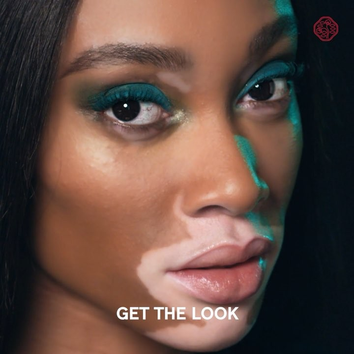 Gorgeous in green. Recreate @winnieharlow's smoky eye look with help from Contro...