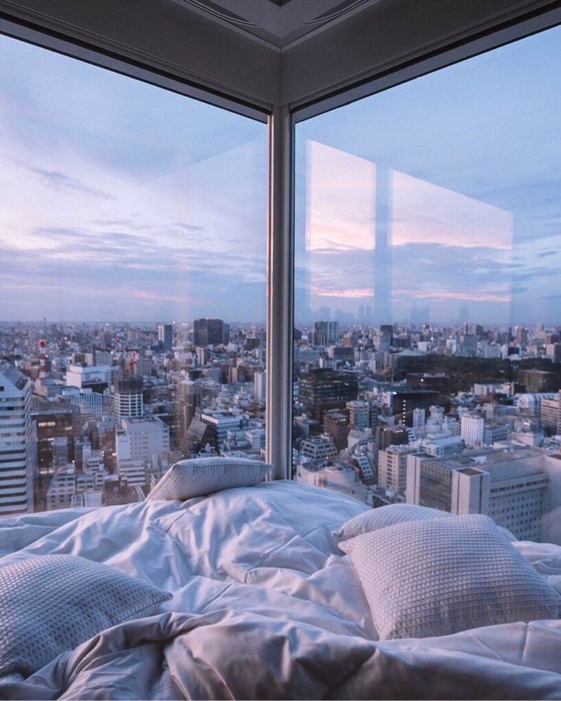 Talk about a room with a view!  The 'The Prince Gallery Tokyo Kioicho' hotel off...
