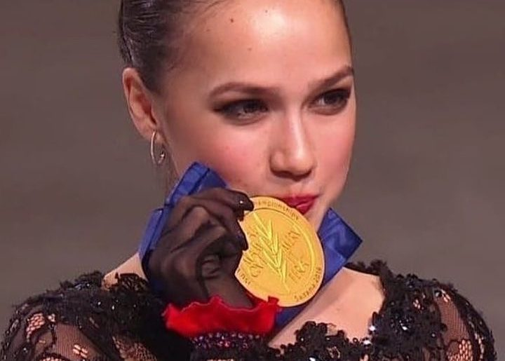 Congratulations @azagitova for the gold medal at the World Figure Skating Champi...