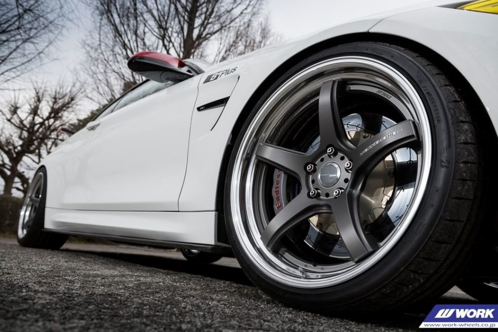 B+Plus BMW M4 on NEW WORK Emotion T5R2P #artofwheel #t5r2p...