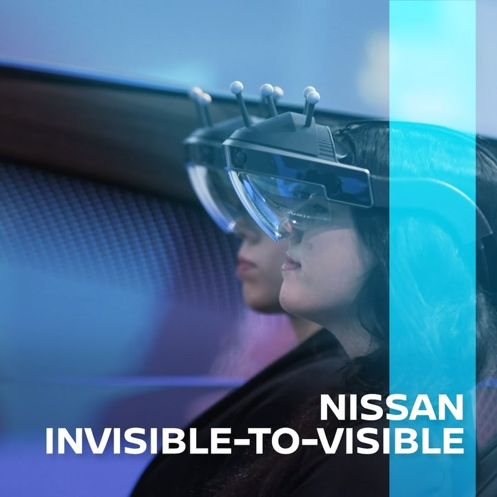Nissan's #InvisibleToVisible technology combines the real world with the virtual...