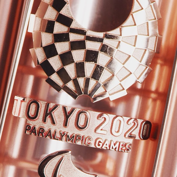 The #Tokyo2020 Paralympic Torch has been unveiled! The #Sakura Pink torch will b...