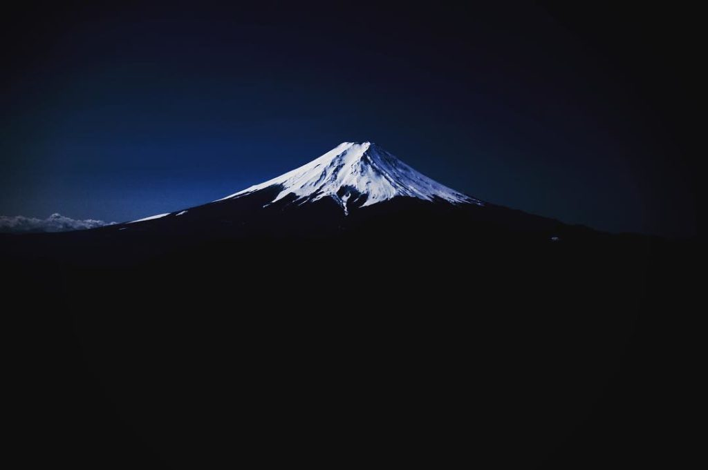 A view of Mount Fuji from Yamanashi Prefecture. Mount Fuji's climbing season usu...