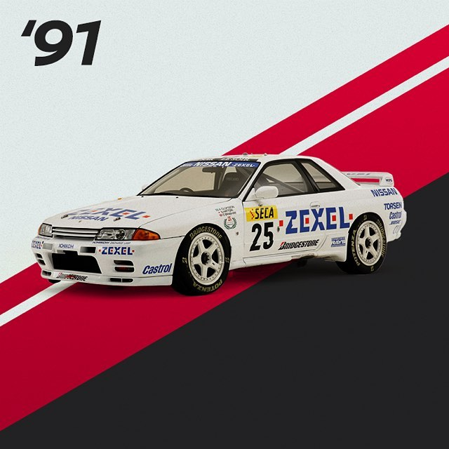 29 victories in 4 seasons. From 1990 to 1993, the #Nissan #Skyline GT-R went und...