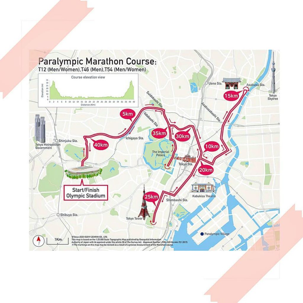 Introducing Tokyo 2020 @paralympics Marathon Course  Traversing the heart of the...