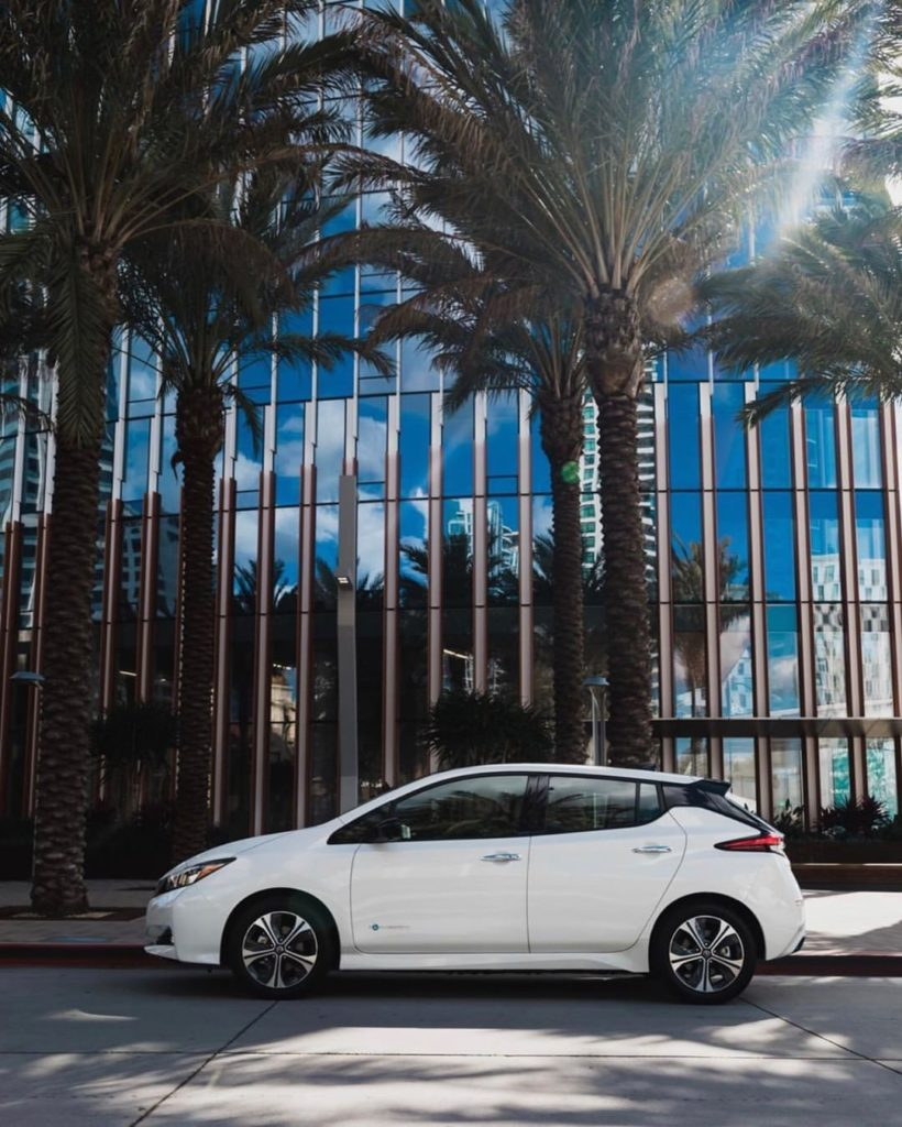 The #NissanLEAF e+ is giving off some serious album cover vibes. #NissanLEAF #Si...