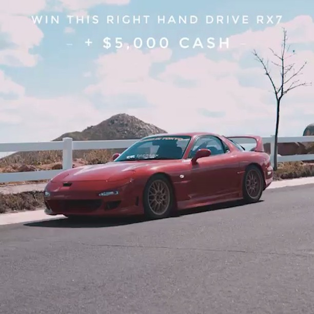 Right now Every $1 you spend gets you Entered towards Winning this RX-7 + $5,000...