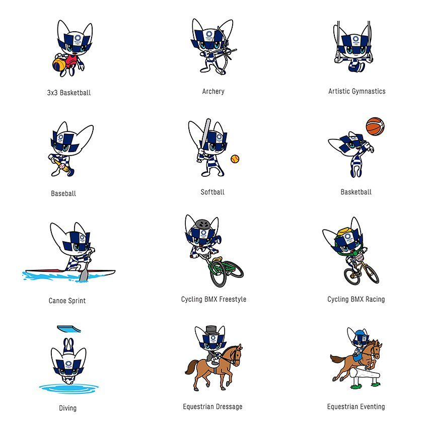 The Mascot images representing Olympic sports and disciplines unveiled! Which on...