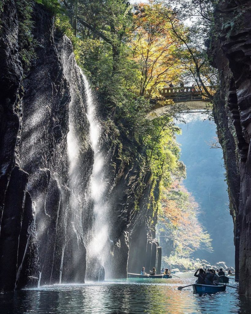 The splendor of #TakachihoGorge in #Miyazaki Prefecture stretches for 7km (4.3mi...