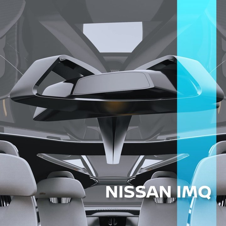 The interior of the #Nissan #IMQ features laser-cut, sculpted seats inspired by ...