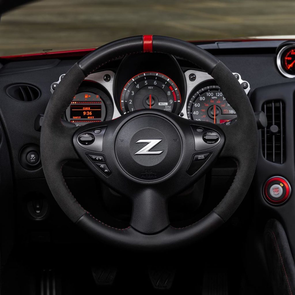 The 50th Anniversary Edition #Nissan #370Z sports an Alcantara-wrapped steering ...