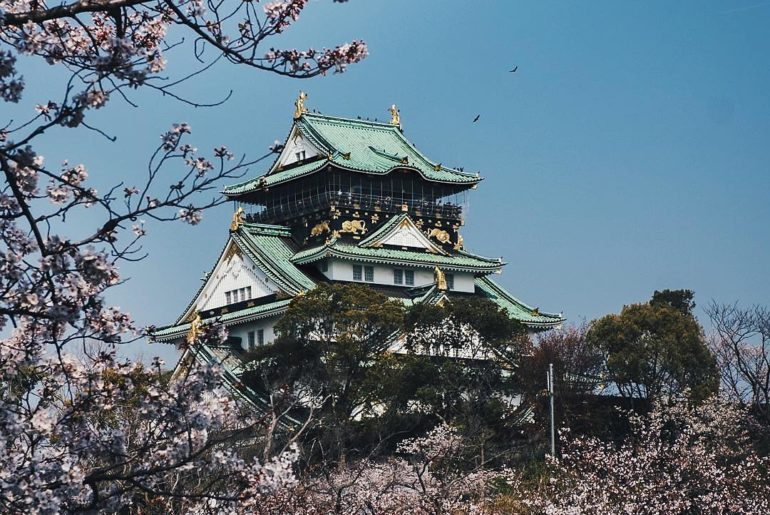 Osaka Castle framed by cherry blossoms is one of the best views in Japan ! We ho...