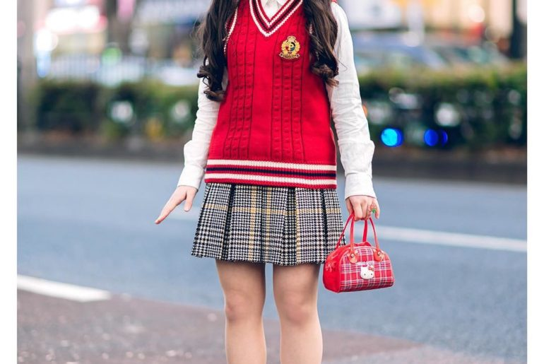 17-year-old Japanese high school student Miori (@miori06kidz) on the street in H...