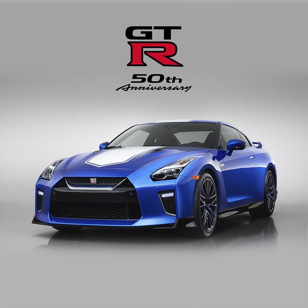 Celebrating 50 years of the #Nissan #GTR at the NY Auto Show with the 50th Anniv...