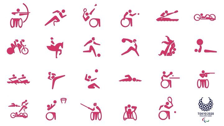 The Paralympic Sports Pictograms are unveiled #500DaysToGo @paralympics...