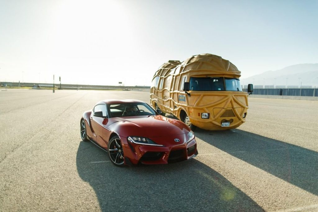 Start your engines, folks! #Supra @MrPeanutOfficial...