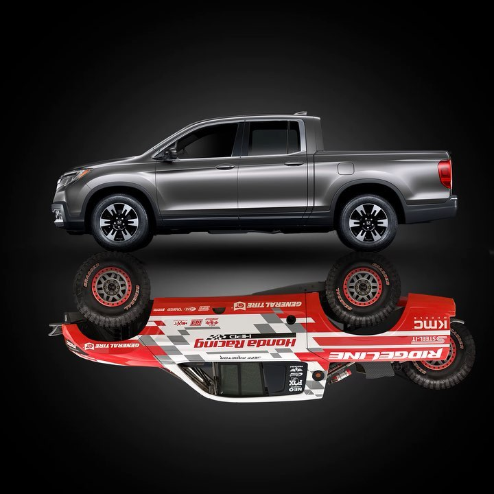 The Baja Ridgeline shares several key powertrain elements with the production Ri...