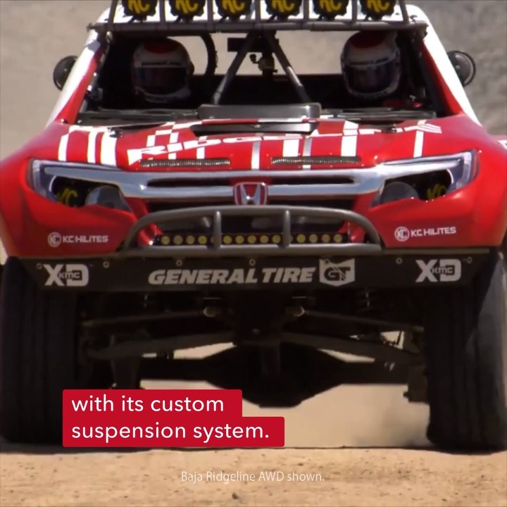The Baja Ridgeline was modified to handle the rough-and-tumble of Baja racing, w...