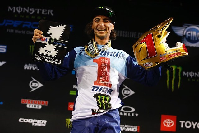 Congratulations to @monsterenergy @starracingyamaha's @dylanferrandis for clinch...