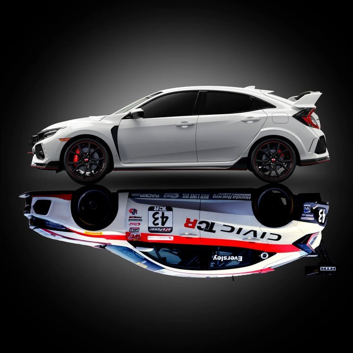 The Civic Type R TCR boasts a lower ride height for improved handling and additi...