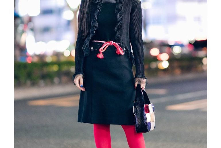18-year-old Japanese student Yuri (@vvvx___x) on the street in Harajuku wearing ...