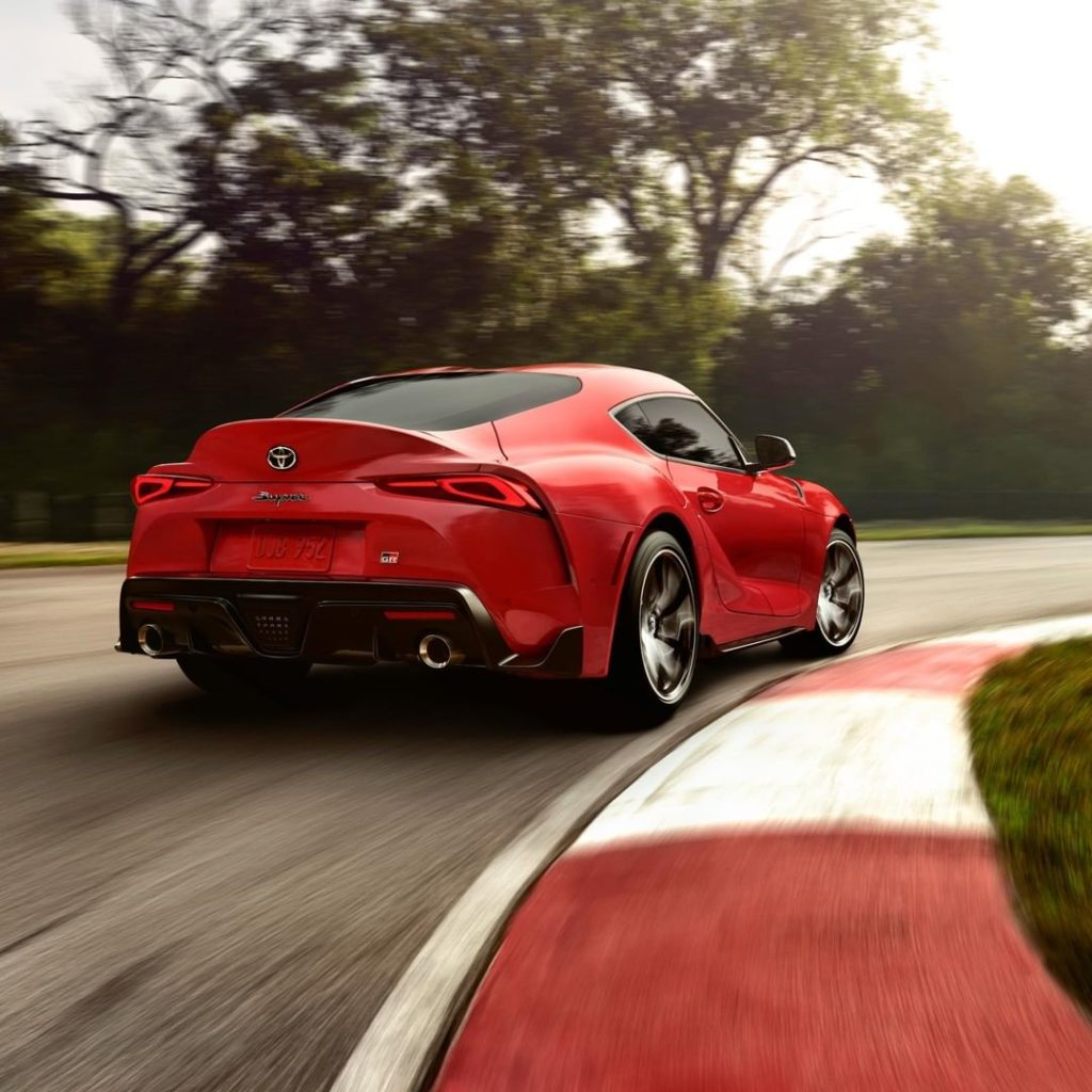 Hit the apex in the all-new 2020 Supra, coming this summer. #Supra #LetsGoPlaces...