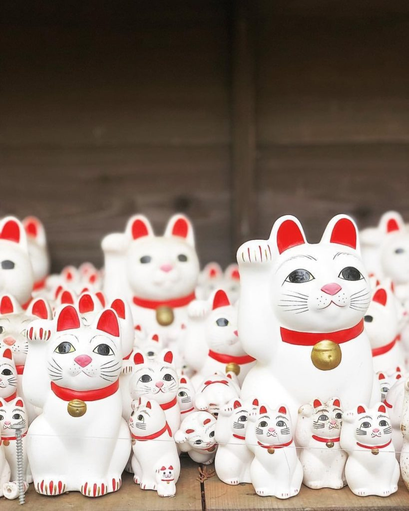 Put your paws up!  Tokyo's Gotokuji Temple is the purrfect spot for cat lovers, ...