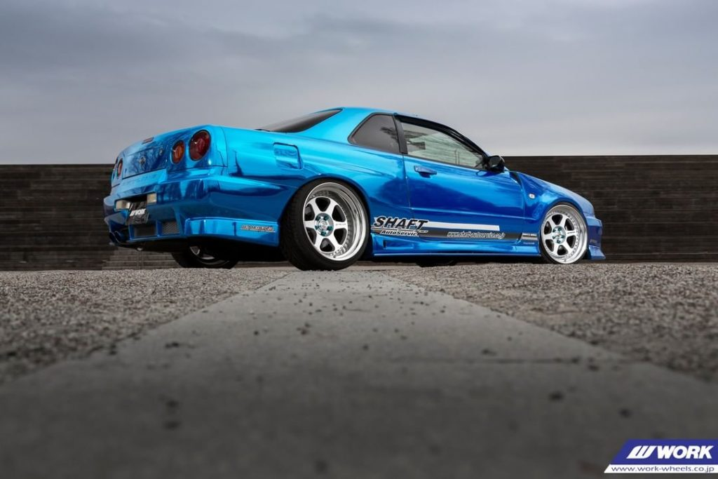 SHAFT Nissan Skyline on WORK Meister L1 #artofwheel #meisterl1...