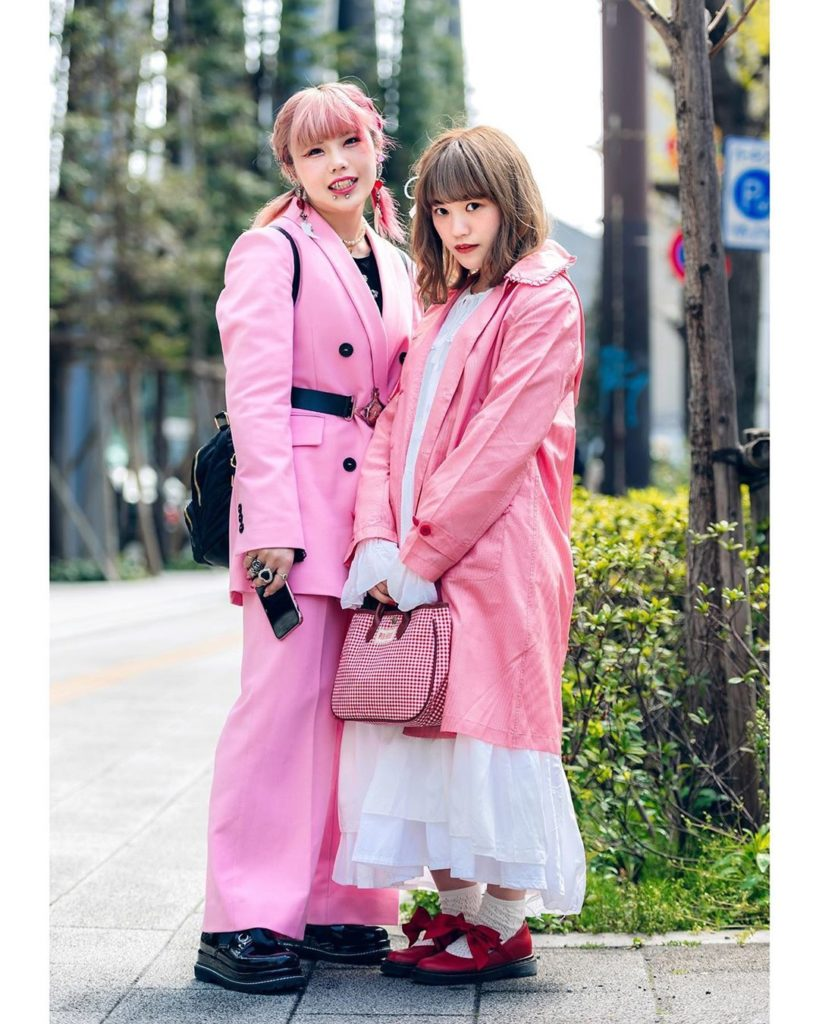18-year-old Japanese fashion students Natsumi (@_k.723_) and Moka (@mokapan_927)...