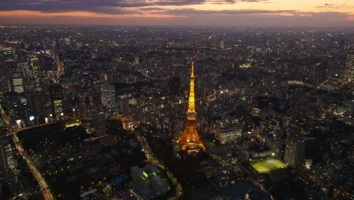 Tokyo Tower is an ideal spot for travelers to take in the dazzling cityscape bel...