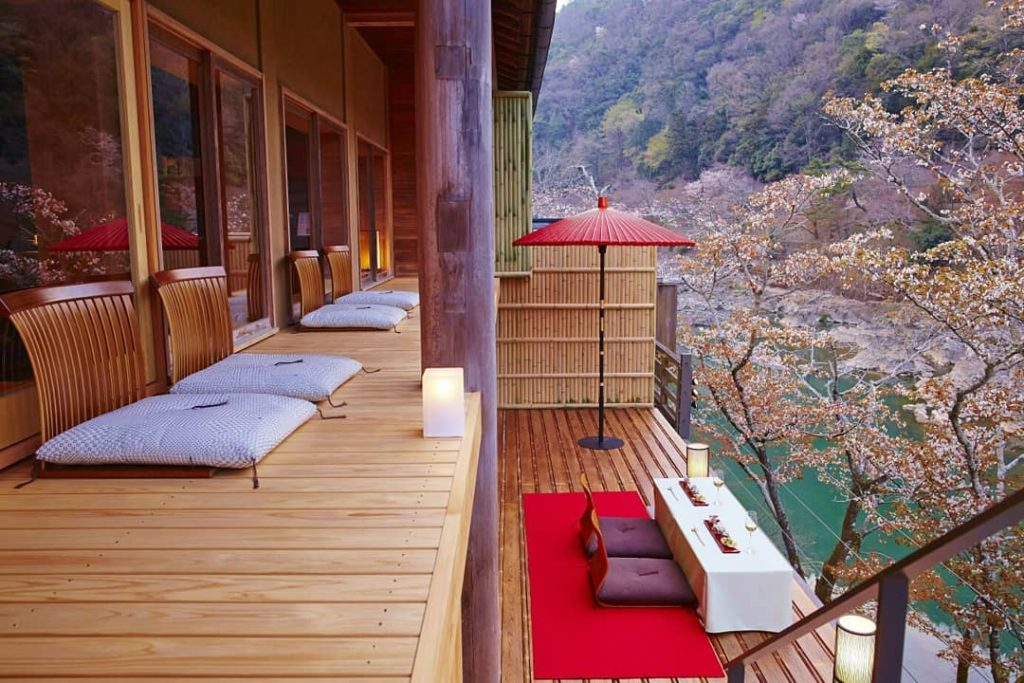 BRB. Booking a room at Hoshinoya Kyoto immediately.  Located within remote fores...
