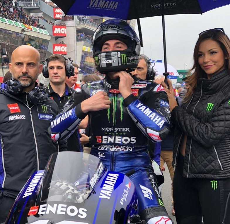 Ready to go! . . Almost time to start the show... #MonsterYamaha | #MotoGP | #Fr...