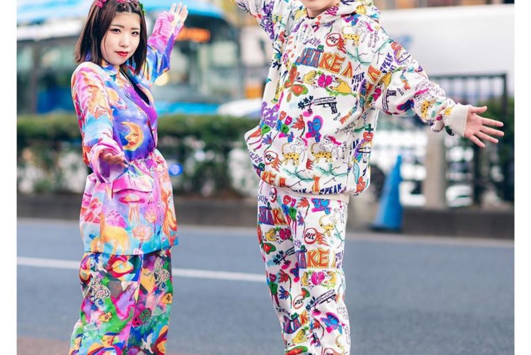 Chinatsu (@katycats_chi) and Taishi (@taishiiy) - both 18 - on the street in Har...