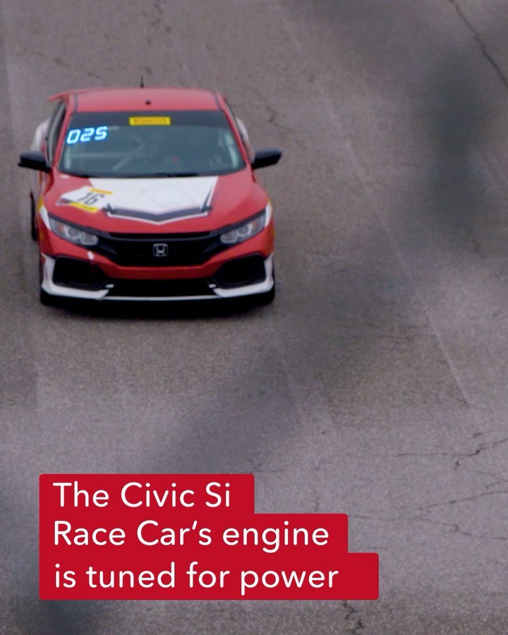 The championship-winning Civic Si race car is capable of accelerating from 0-60 ...