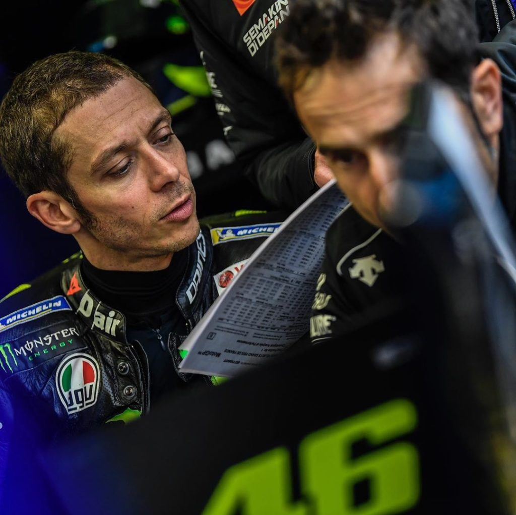 "@valeyellow46  ""We have to hope that tomorrow morning I can ride in dry conditio..."