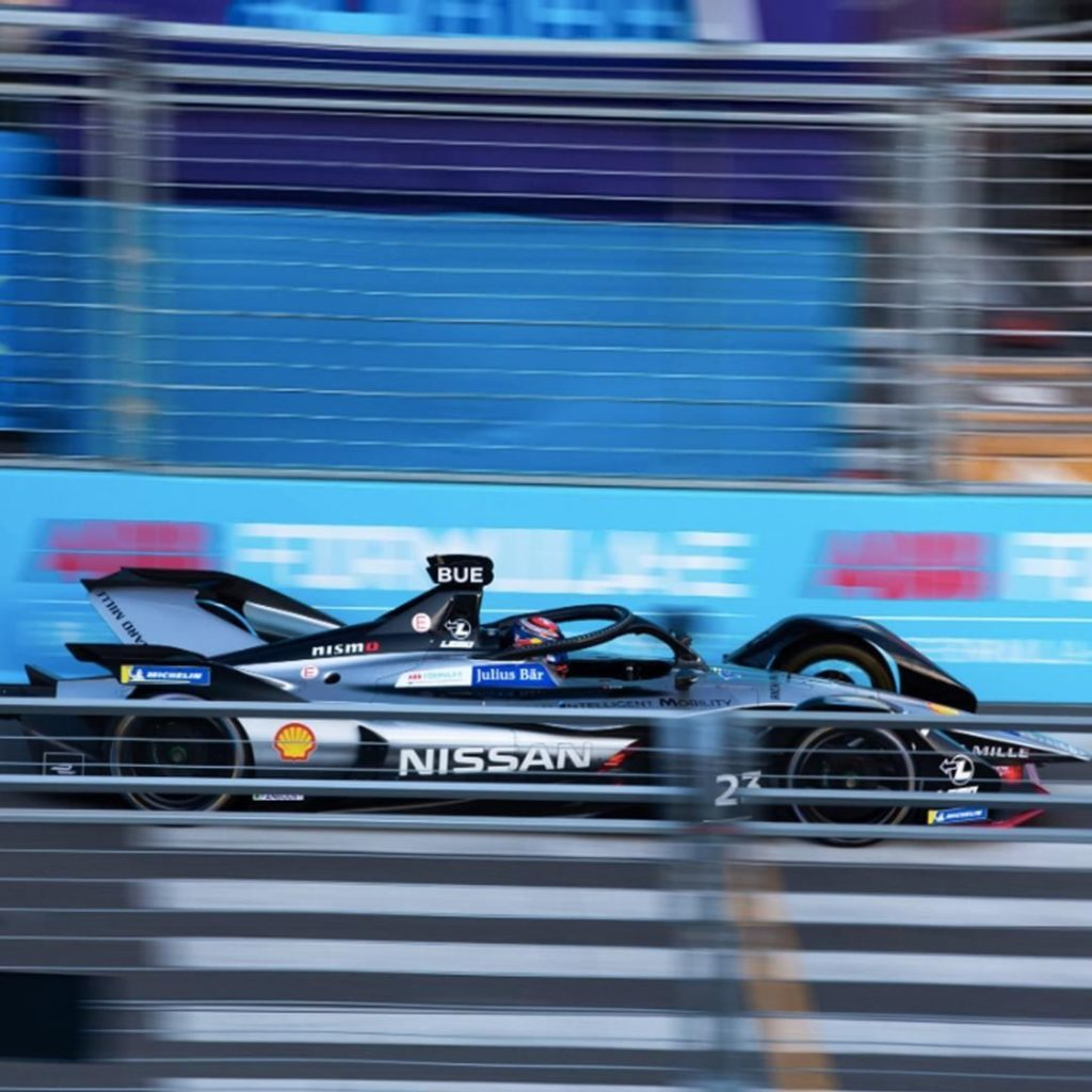 Getting lost in the blur at the #BerlinEPrix. #NissanFormulaE #Nissan #FormulaE...