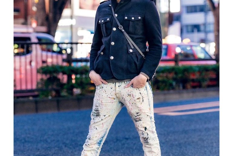 Rapper/musician/fashion designer/video producer @Gab3 on the street in Harajuku ...