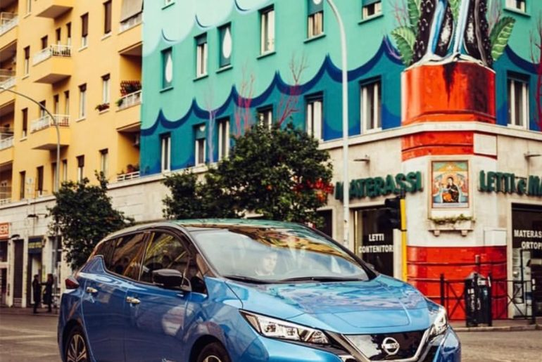The corner of art and innovation. #NissanLEAF #SimplyAmazing : @jeffonline...