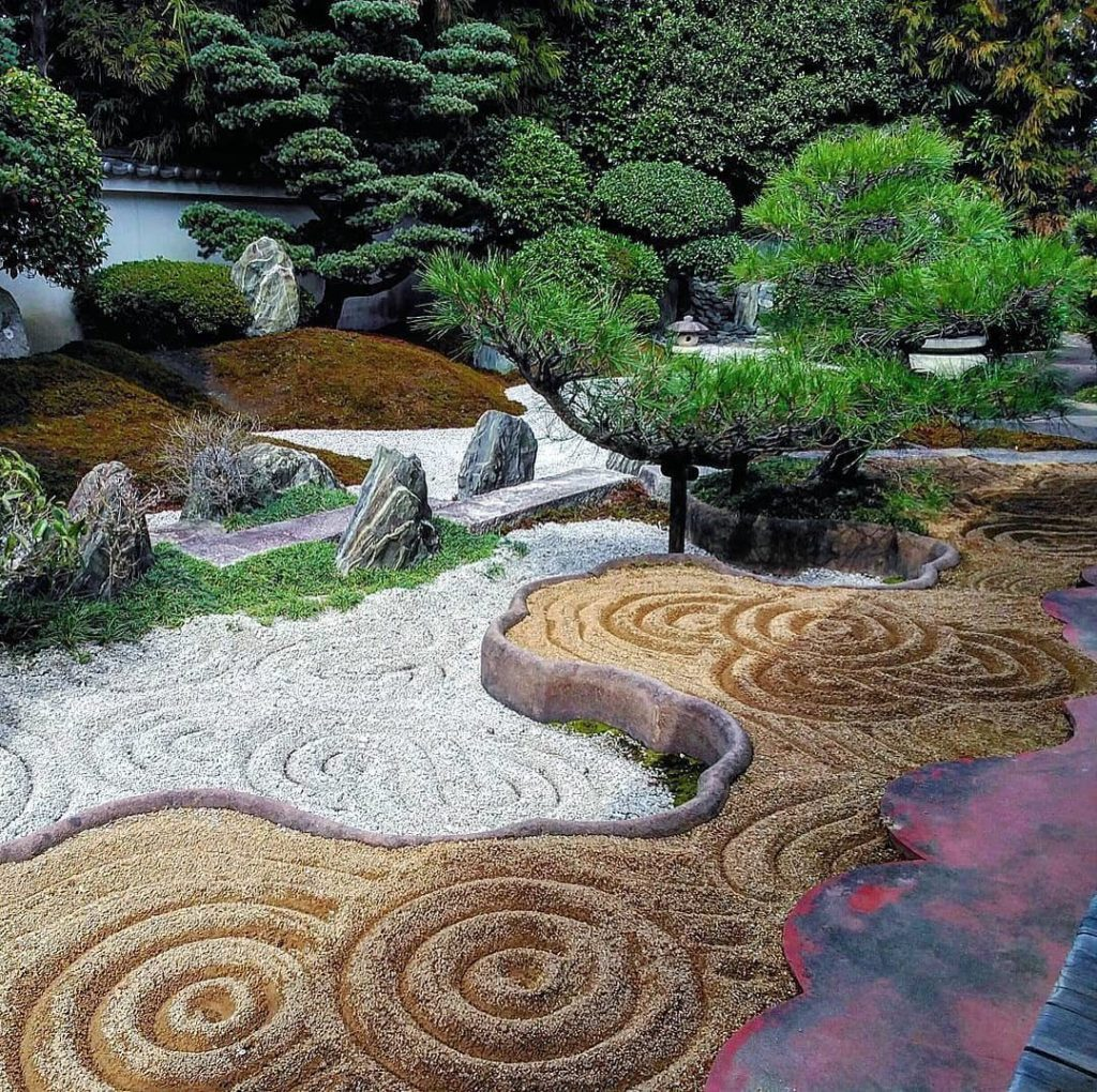 . The garden at Reiun-in temple in Kyoto, designed by the famed Mirei Shigemori,...