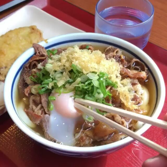 Udon dreams.  Here, chewy, thick and smooth udon noodles are served in a rich fl...