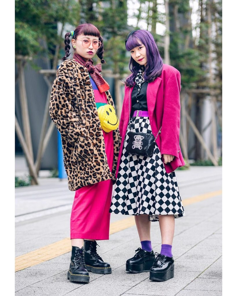 Japanese fashion college students Reiri (@twintail.g__) and Niina (@i_am_niina_2...