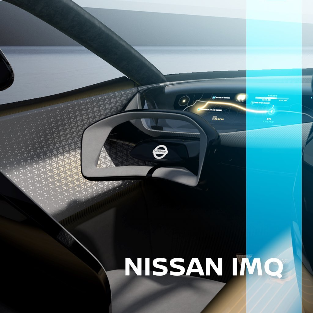 Everything about the #Nissan #IMQ's interior is about the driver, with an ergono...