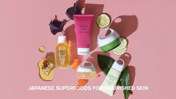 Introducing WASO. A collection of superfood-inspired skincare products for nouri...
