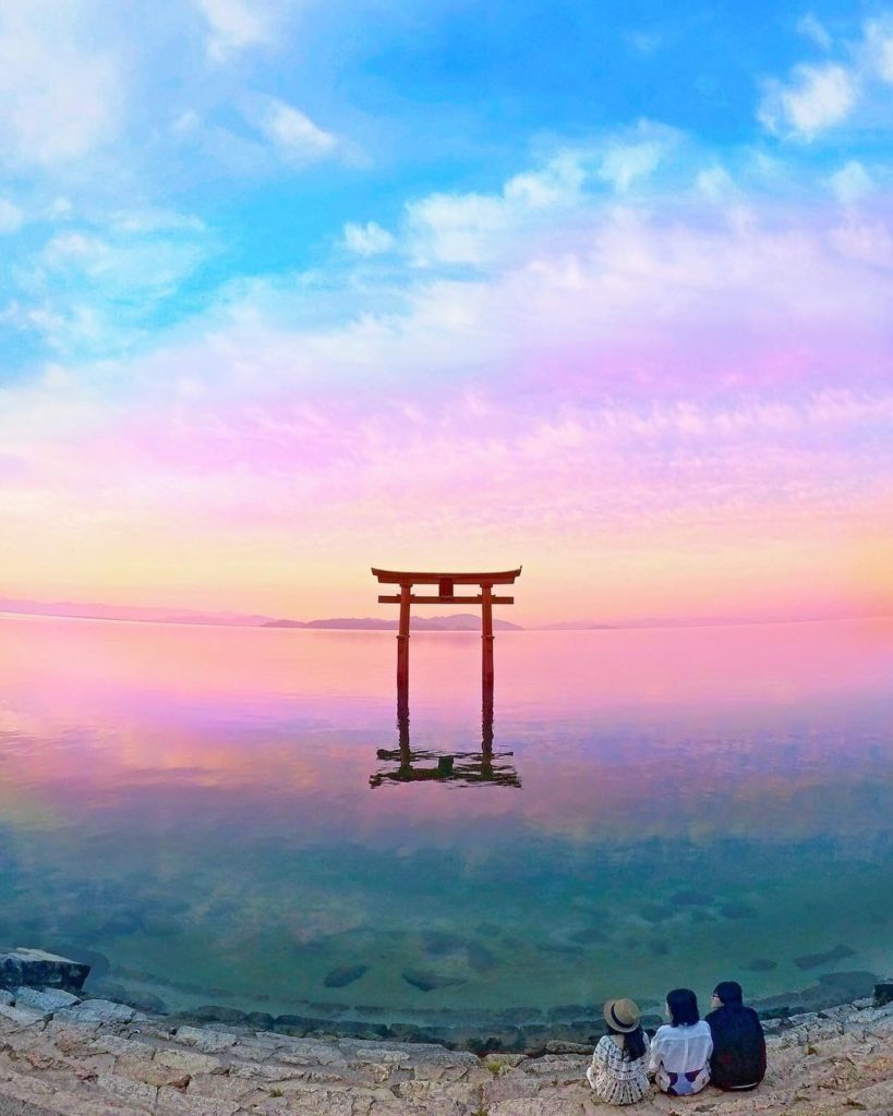 Shrines over water and cotton candy skies - is there a better combo?  This gorge...