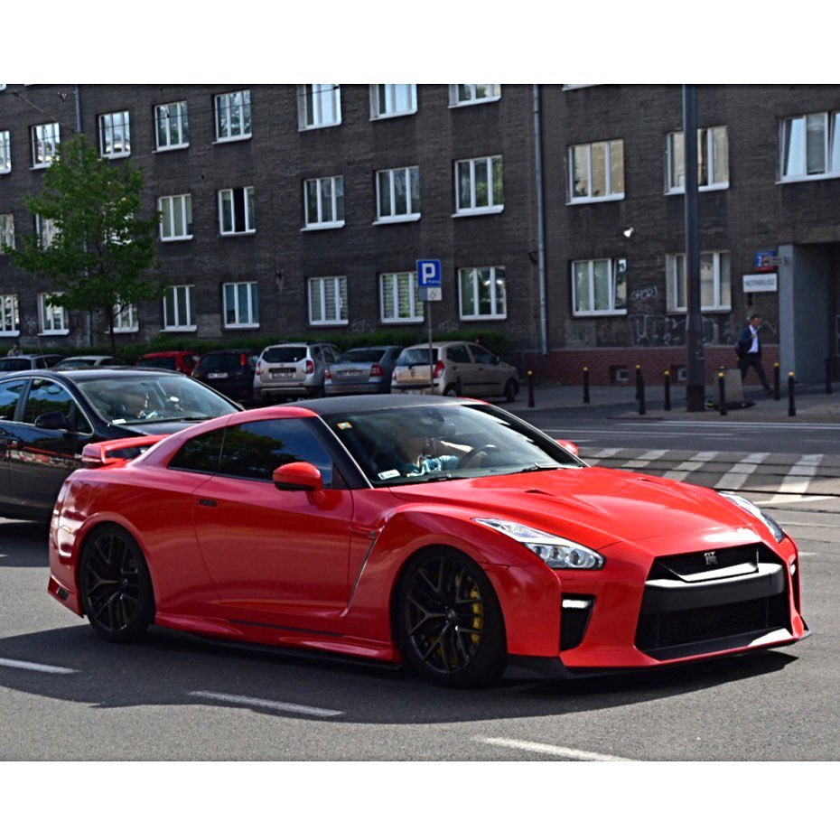 Nothing attracts attention like a red GT-R  Photo @autogespot . . . . Follow the...